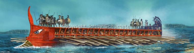 Αρτεμίσιο 480 π.Χ. 3 ναυμαχίες σε 2 μέρες Trireme3