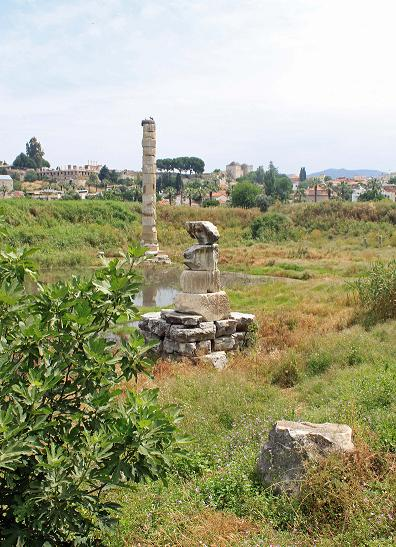 The ruins of the temple of Artemis in Ephesus.