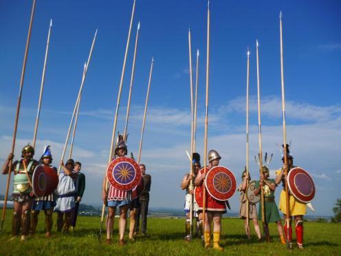reconstructed macedonian phalanx