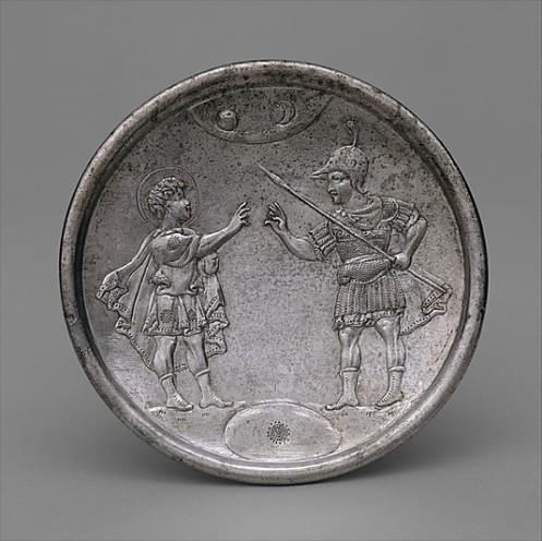 byzantiene silver plate David Eliab